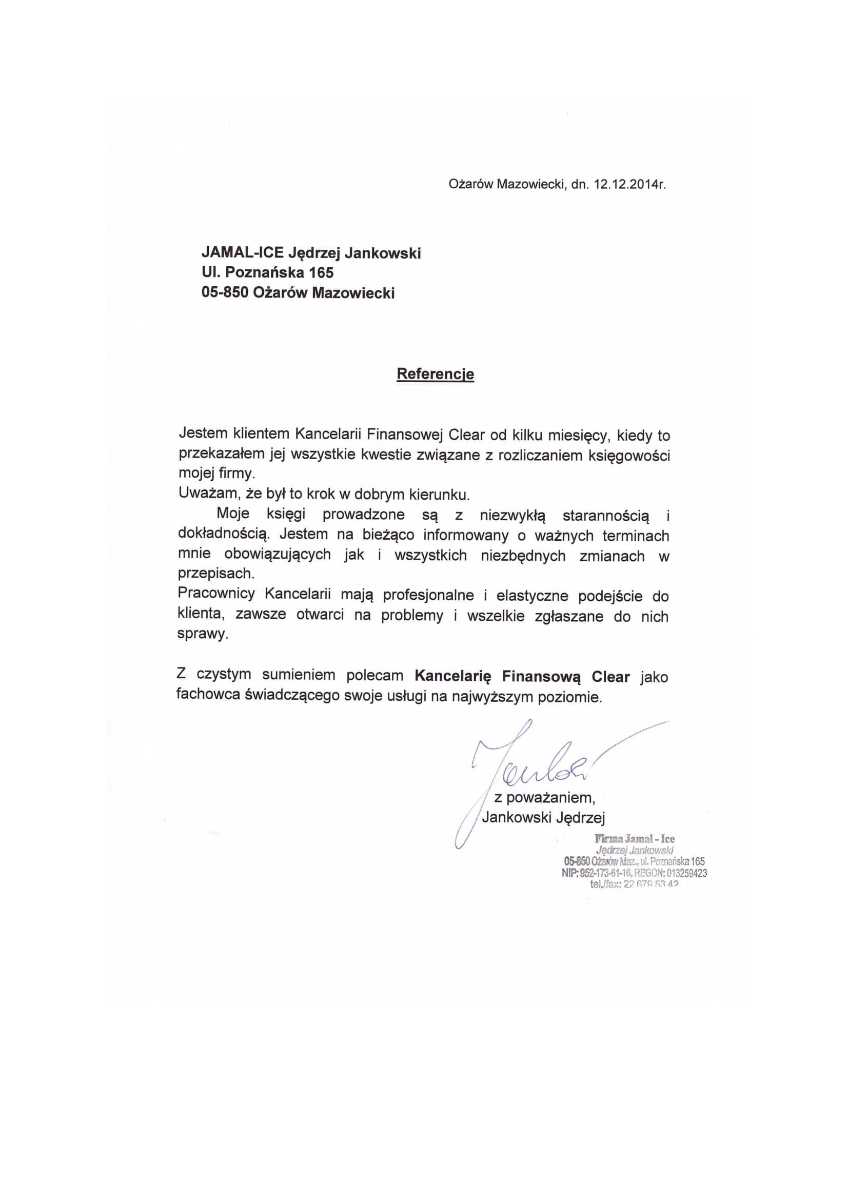 referencje kancelaria finansowa clear Jamal-Ice-1